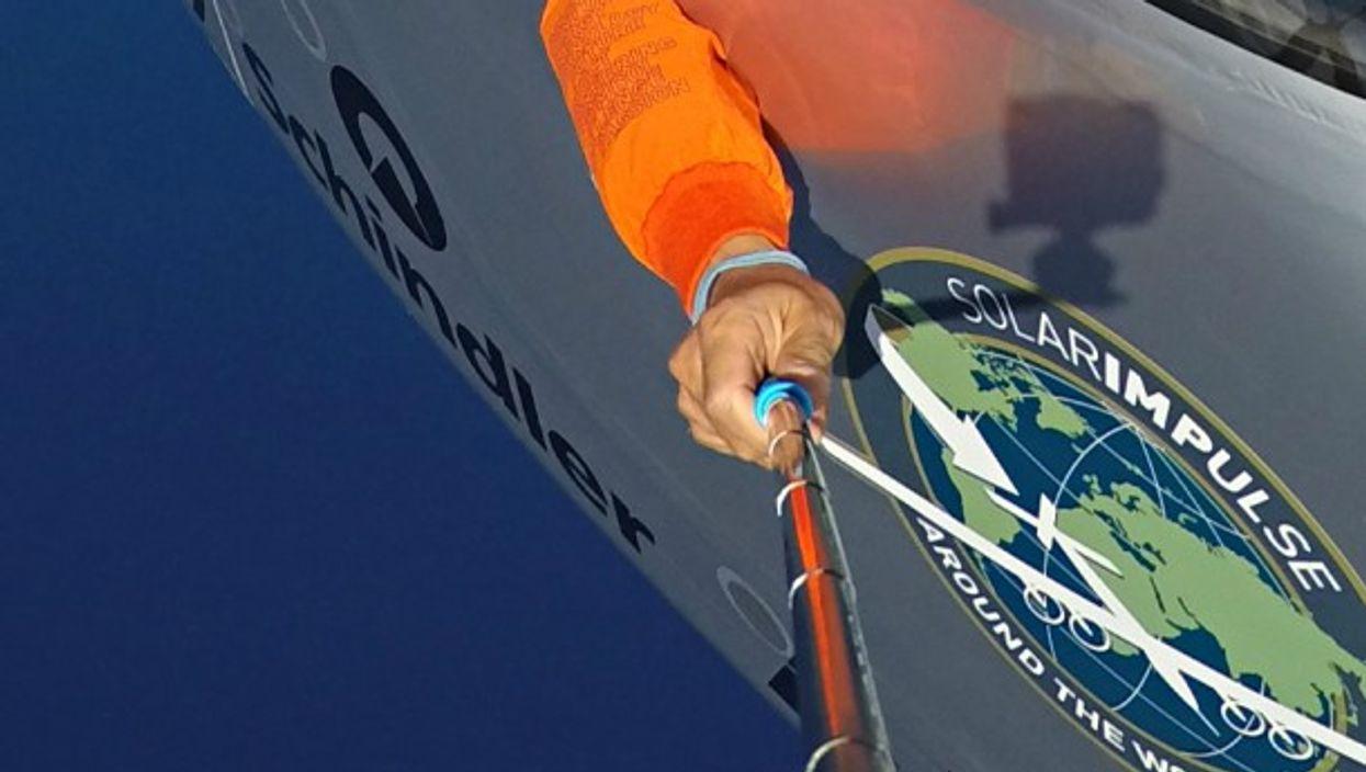 Detail of Solar Impulse photograph
