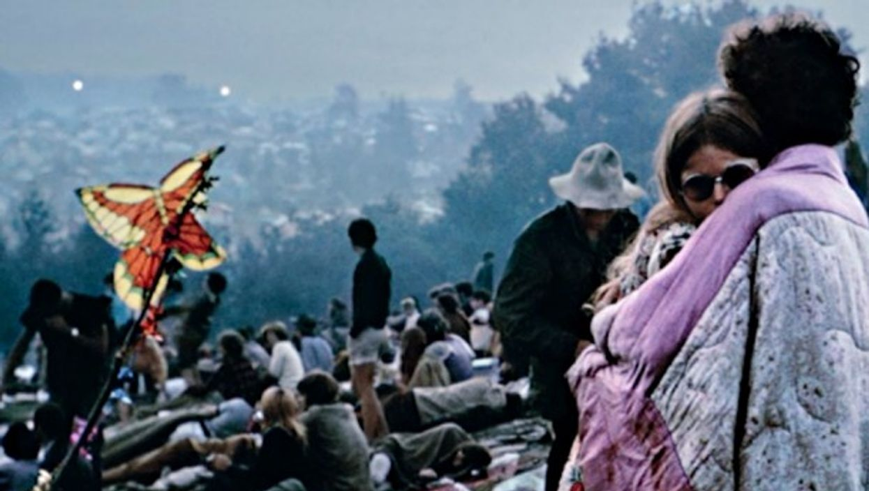Detail of Woodstock photograph