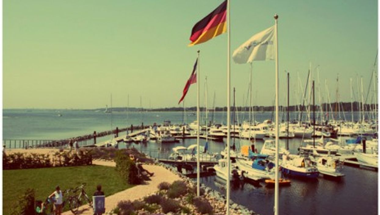 Die Marina Baltic Bay in Laboe, northern Germany