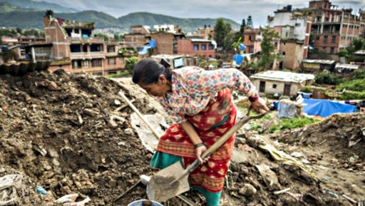 Digging in Bhaktapur, Nepal