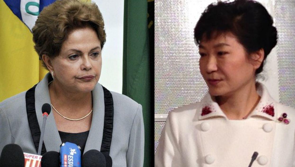 Dilma Rousseff and Park Geun-hye
