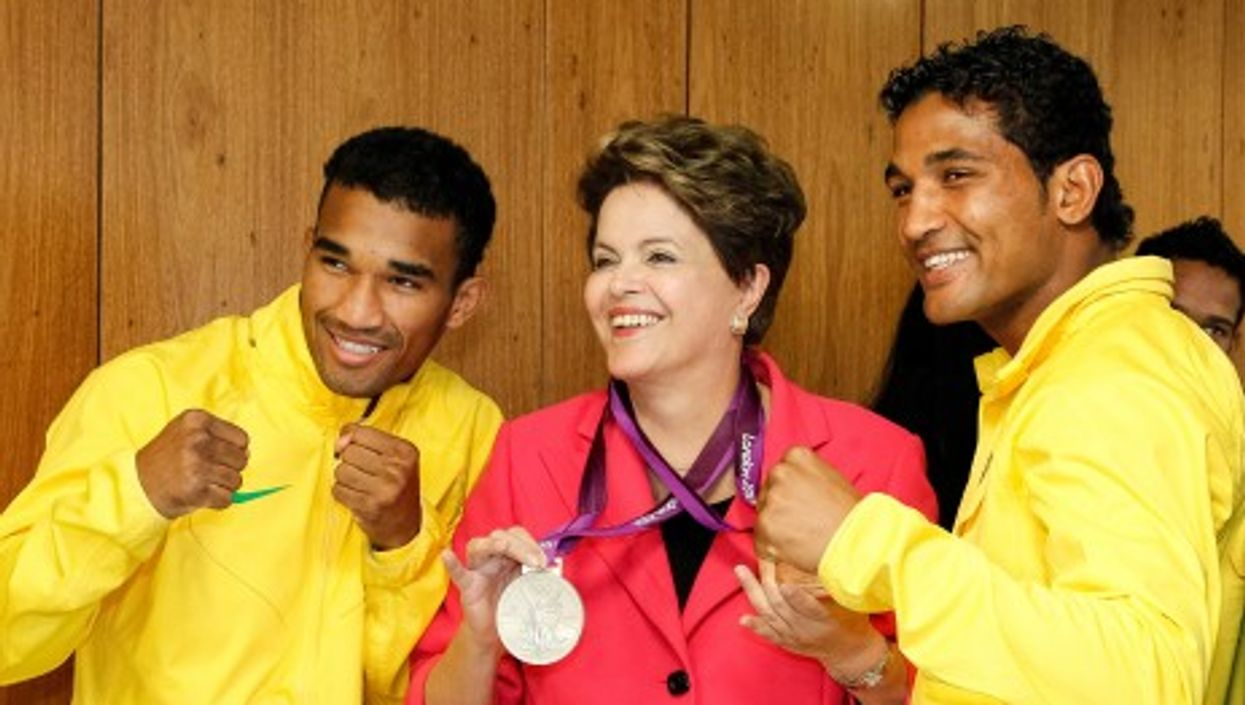 Dilma Rousseff, congratulating Olympic athletes