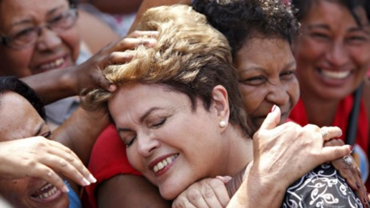 Dilma Rousseff was re-elected president of Brazil on Sunday.