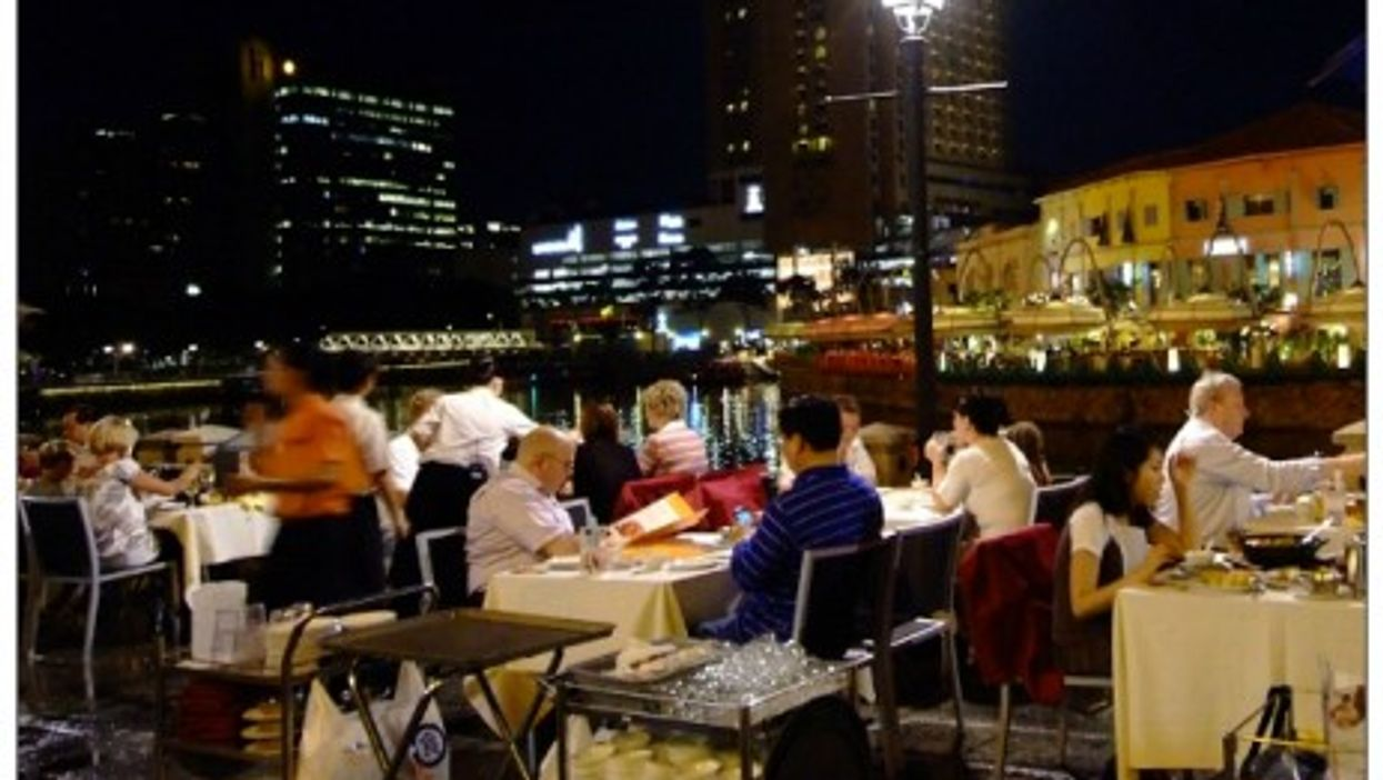 Dining by the historic Singapore River