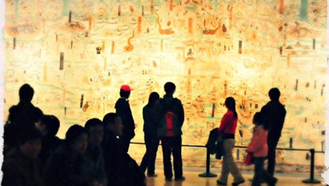 Display of artworks from the Dunhuang grottoes at the Beijing's National Art Museum of China
