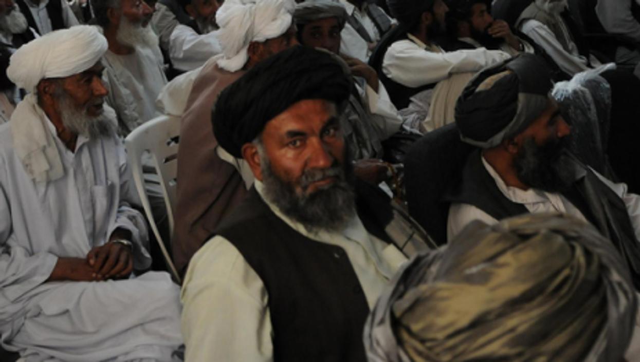District elders in Zabul village discuss reintegrating local Taliban