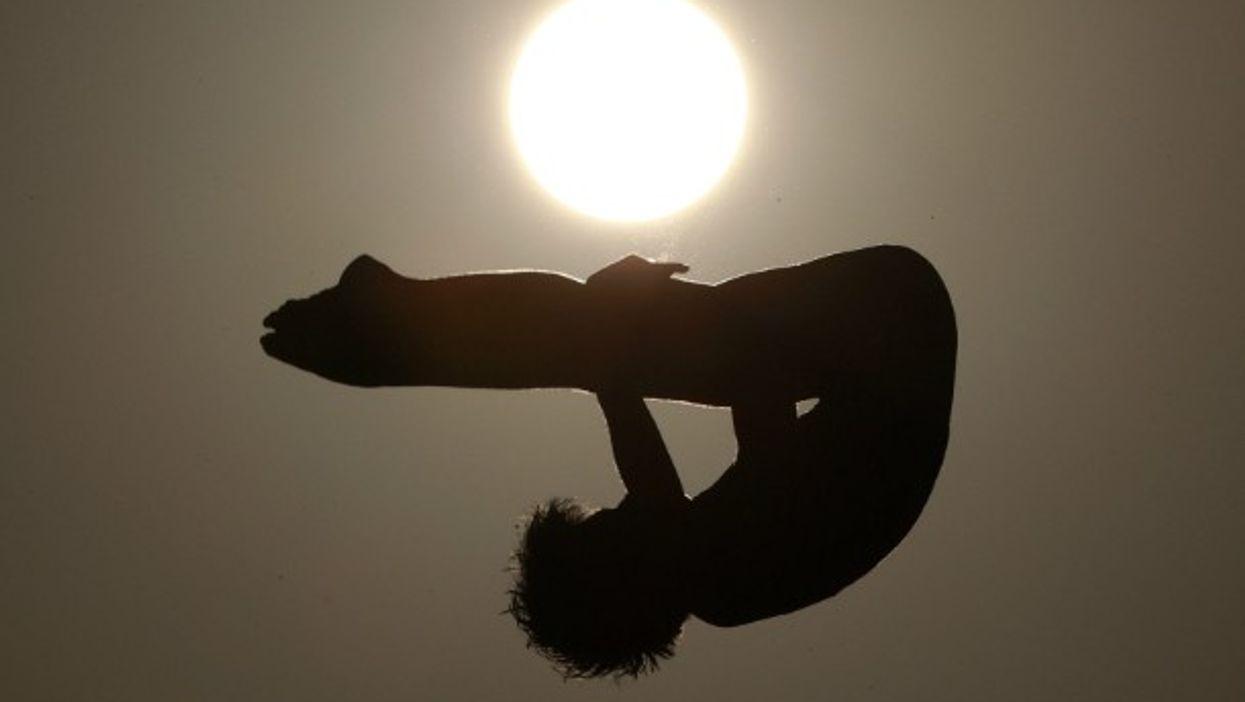 Diver training in Rio de Janeiro on Aug. 4