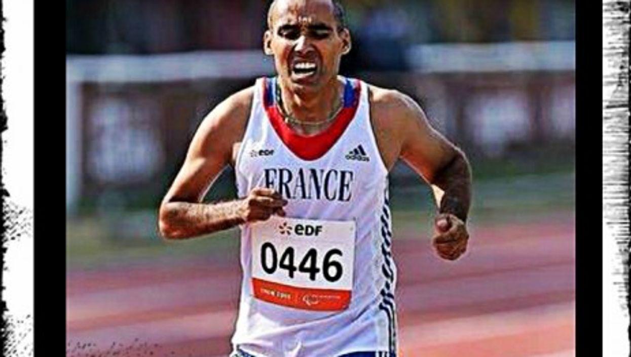 Djamel Mastouri during a 1,500-meter run