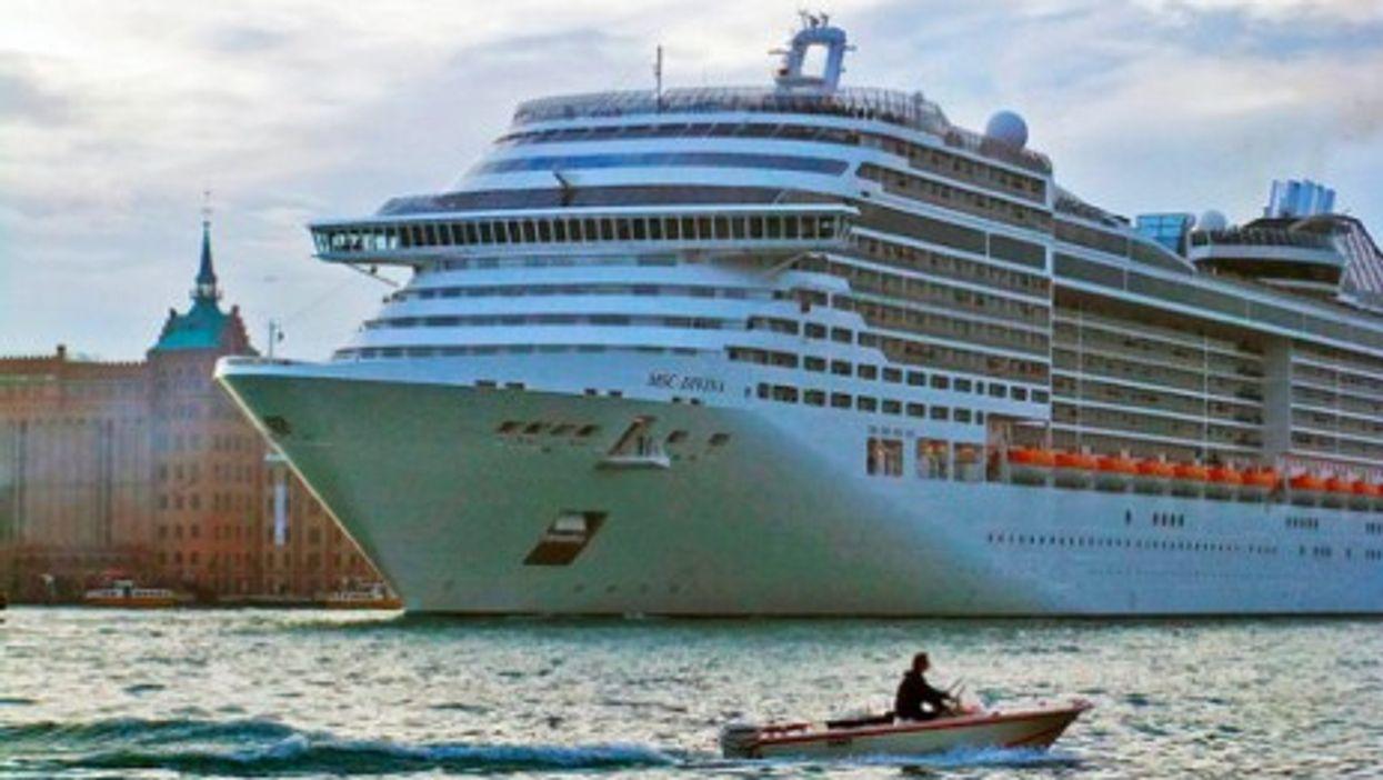 Docked in Venice, MSC Divina carries 4,000 passengers