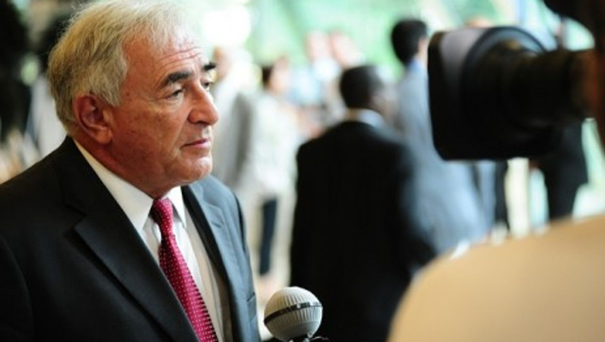 Dominique Strauss-Kahn at the Aid for Trade conference in 2009 (by the World Trade Organization)