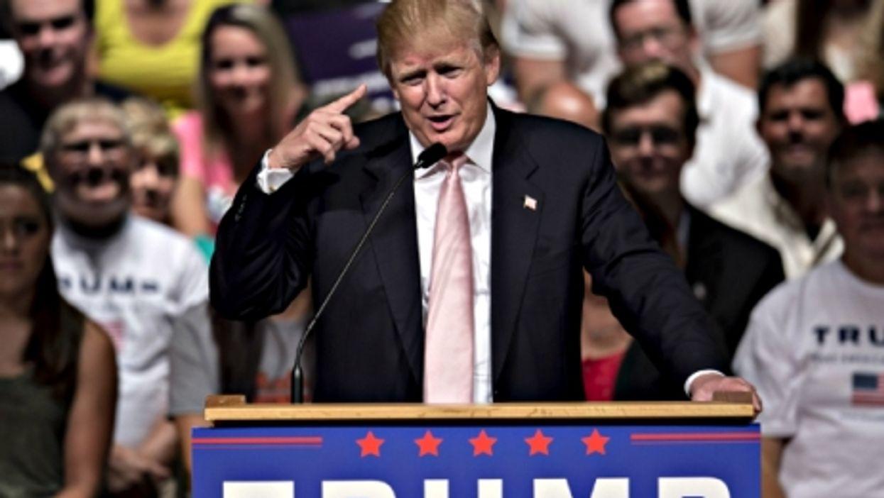 Donald Trump in Oskaloosa, Iowa, on July 25