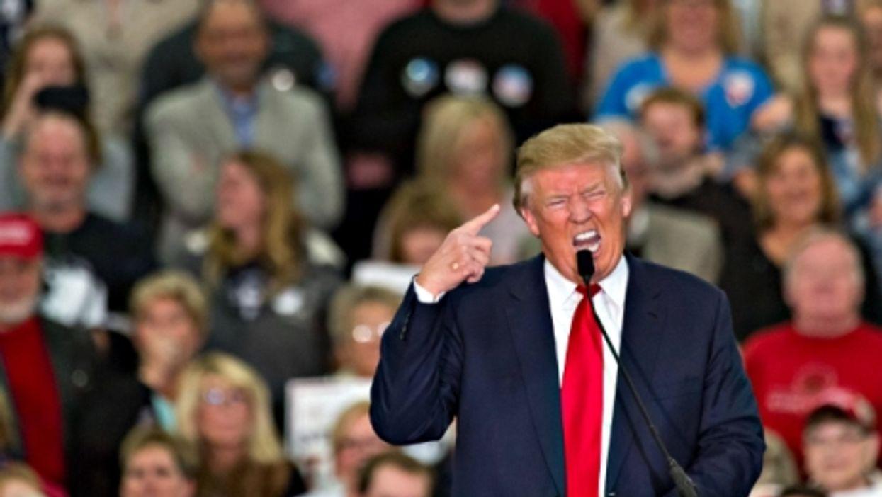 Donald Trump on Nov. 24 in Myrtle Beach, South Carolina