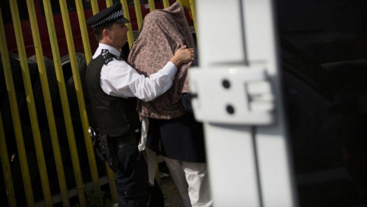 During a raid this week in Dagenham, UK