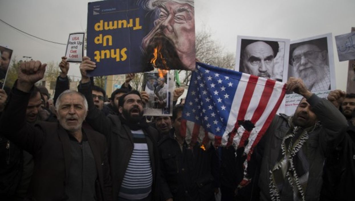 During an anti US demonstration in Tehran, Iran in January 2020