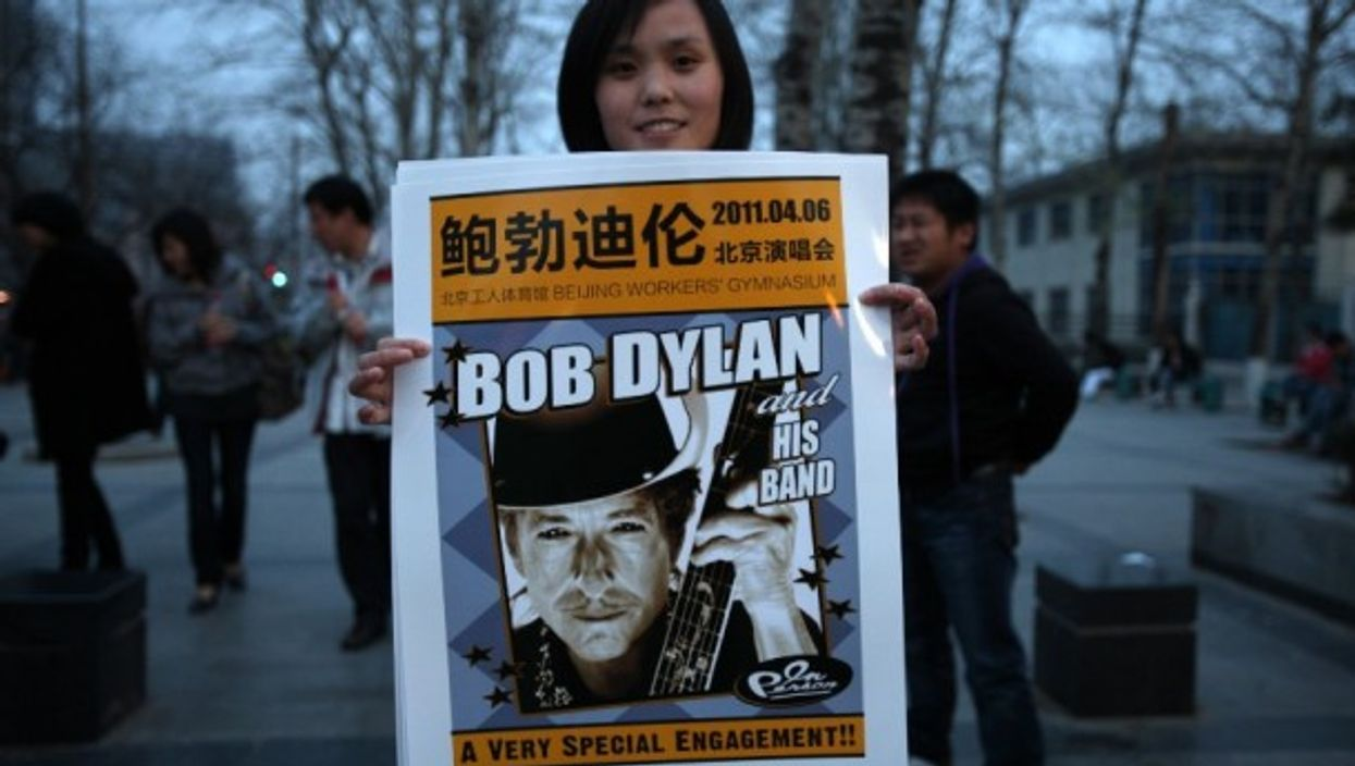 During Dylan's tour of China in 2011