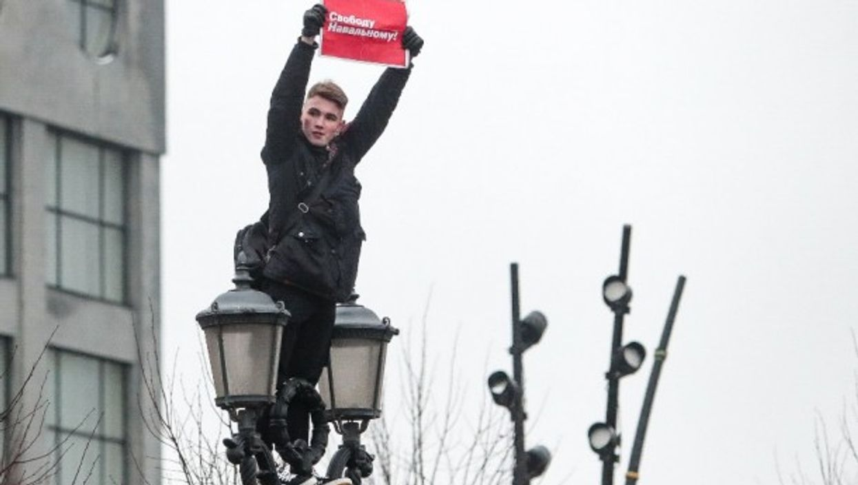 During last weekend's protests in Moscow