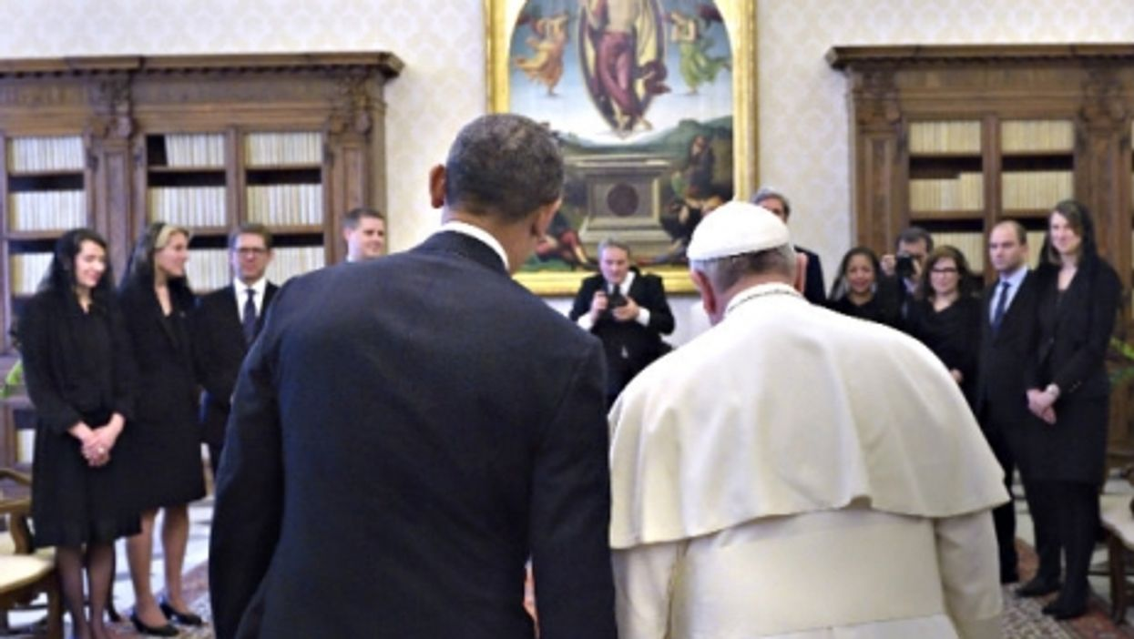 During Obama's visit last year to the Vatican to meet Pope Francis