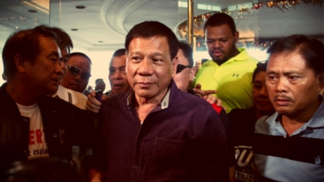 Duterte soon after he announced his candidacy in November