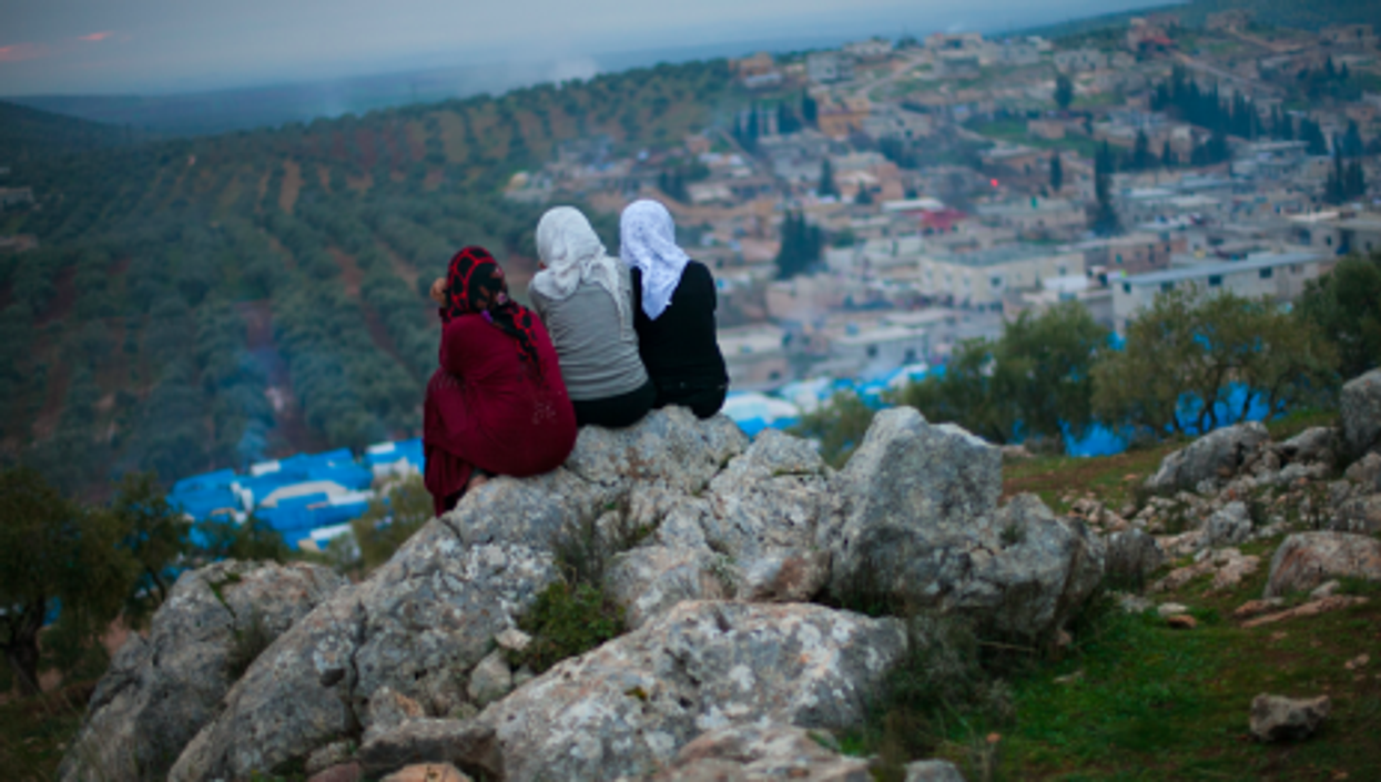 Earlier this year, near the Qah refugee camp in Syria, four miles from the Turkish border