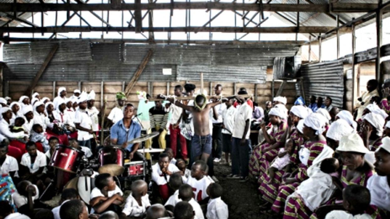 Easter celebrations in a church in Goma, North Kivu, DRC