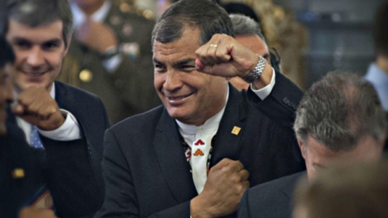 Ecuadorian President Rafael Correa on Dec. 10