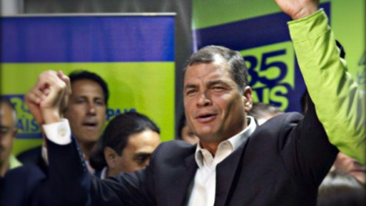 Ecuador's President Rafael Correa in Quito on Feb. 23
