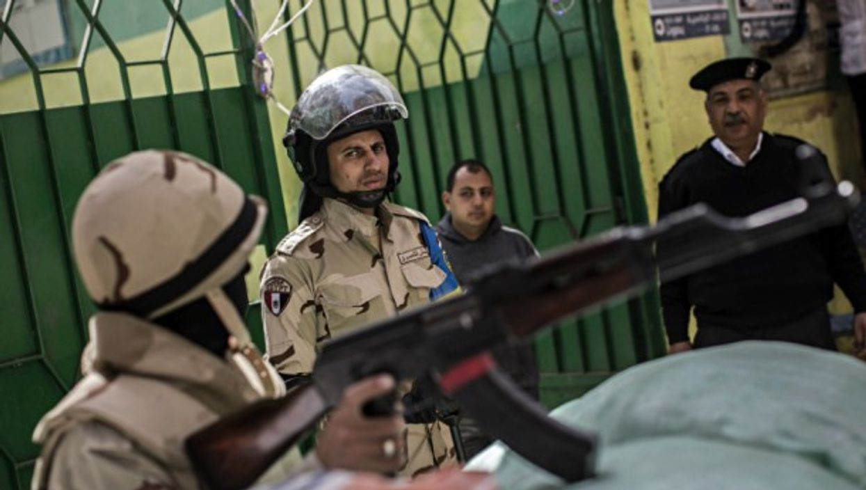 Egyptian military and police guard Cairo polling stations for 2018 presidential election