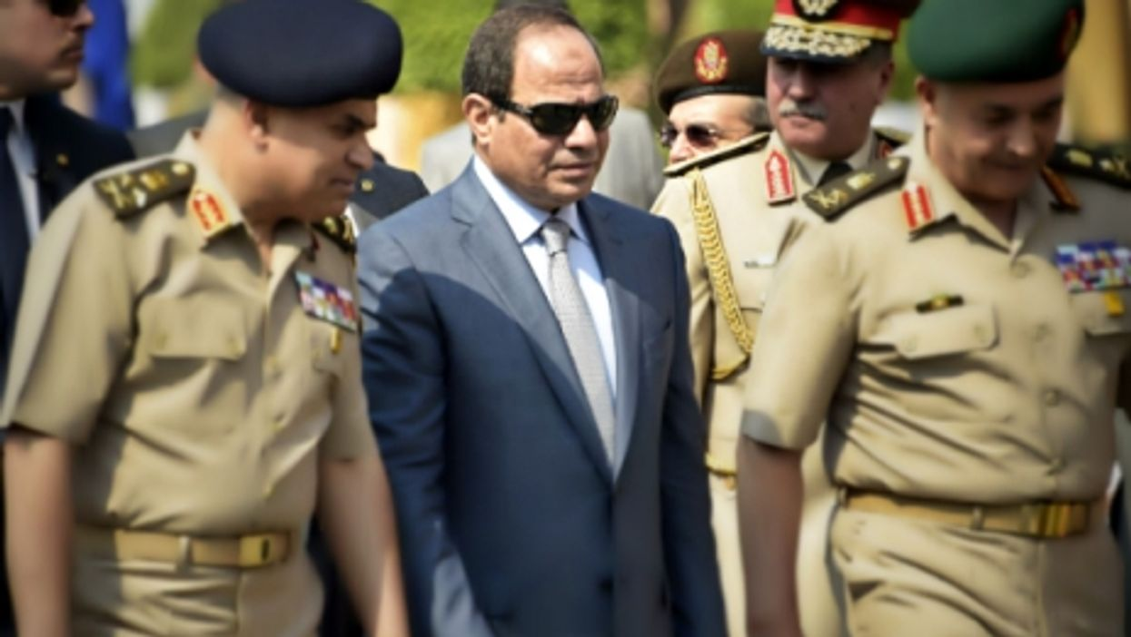 Egyptian President al-Sisi among military officers in Cairo in May