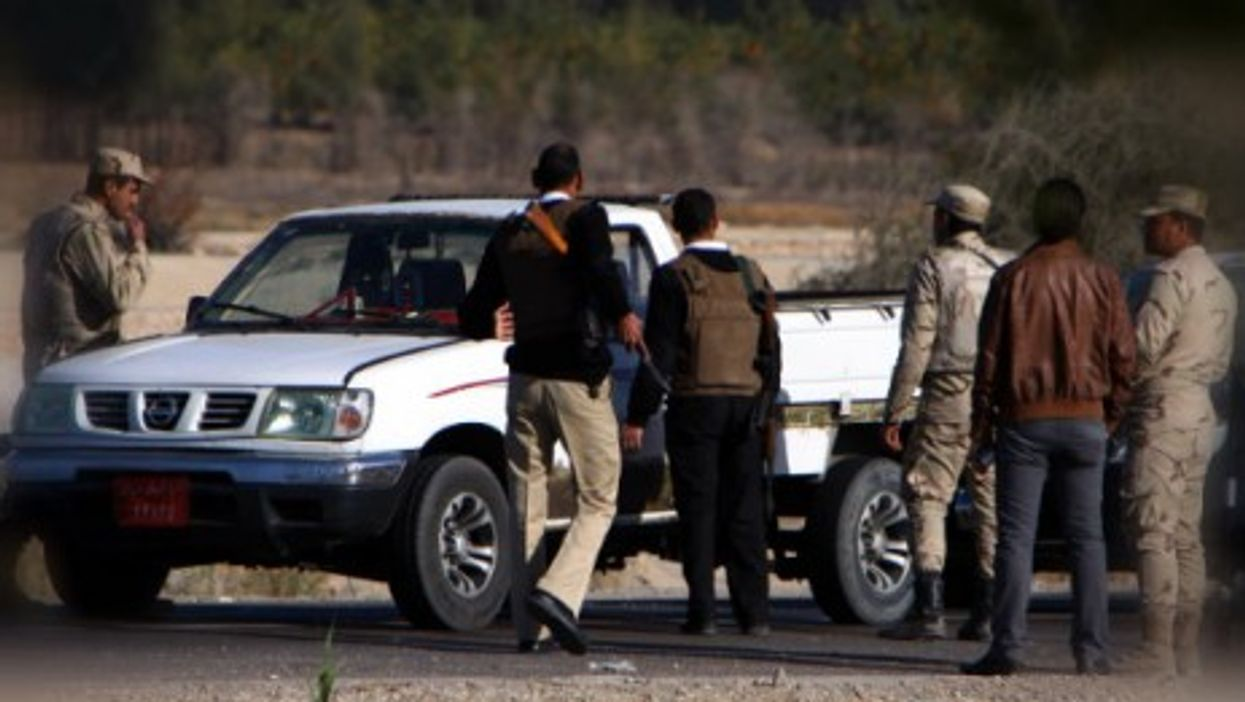 Egyptian security checkpoint near sites attacked last month in Sinai town of Arish