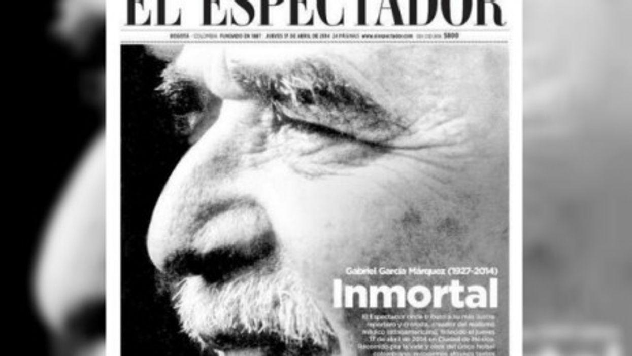 El Espeactador's front page