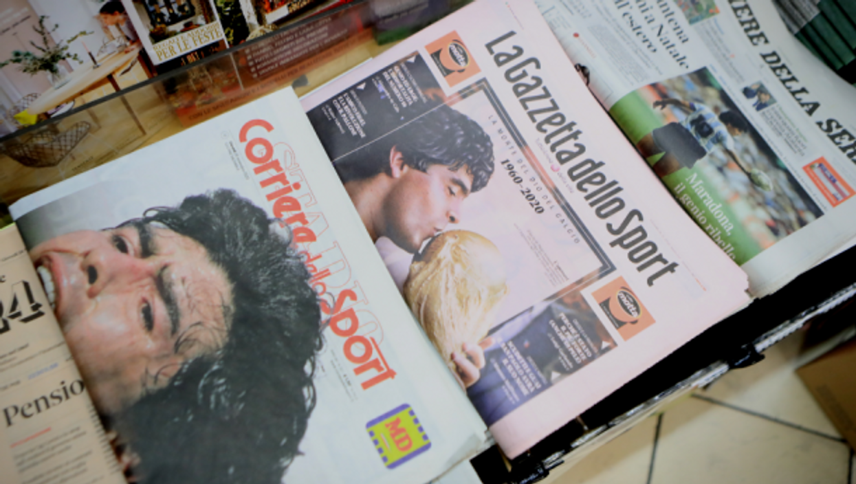 El Pibe de Oro on the world's front pages