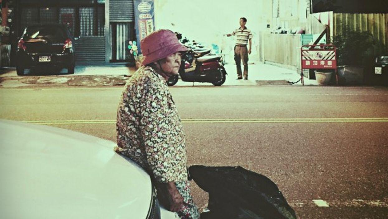 Elderly woman in Tainan, Taiwan