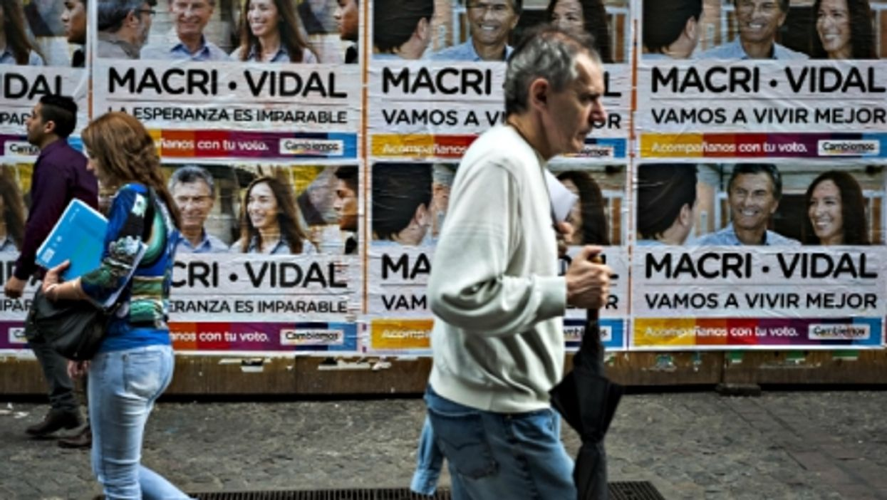 Election poster in Buenos Aires