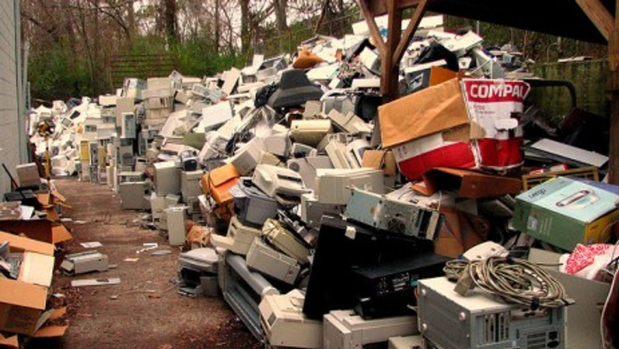 Electronic waste is piling up.