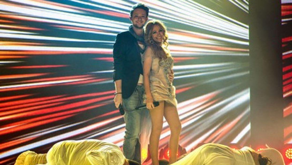 Ell & Nikki, the pop duo that won the Eurovision Song Contest 2011 for Azerbaijan (Vugar?badov)