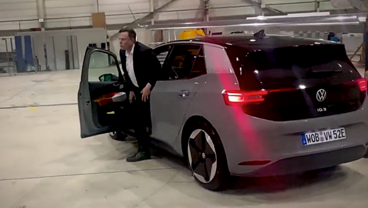 Elon Musk trying out a brand new VW