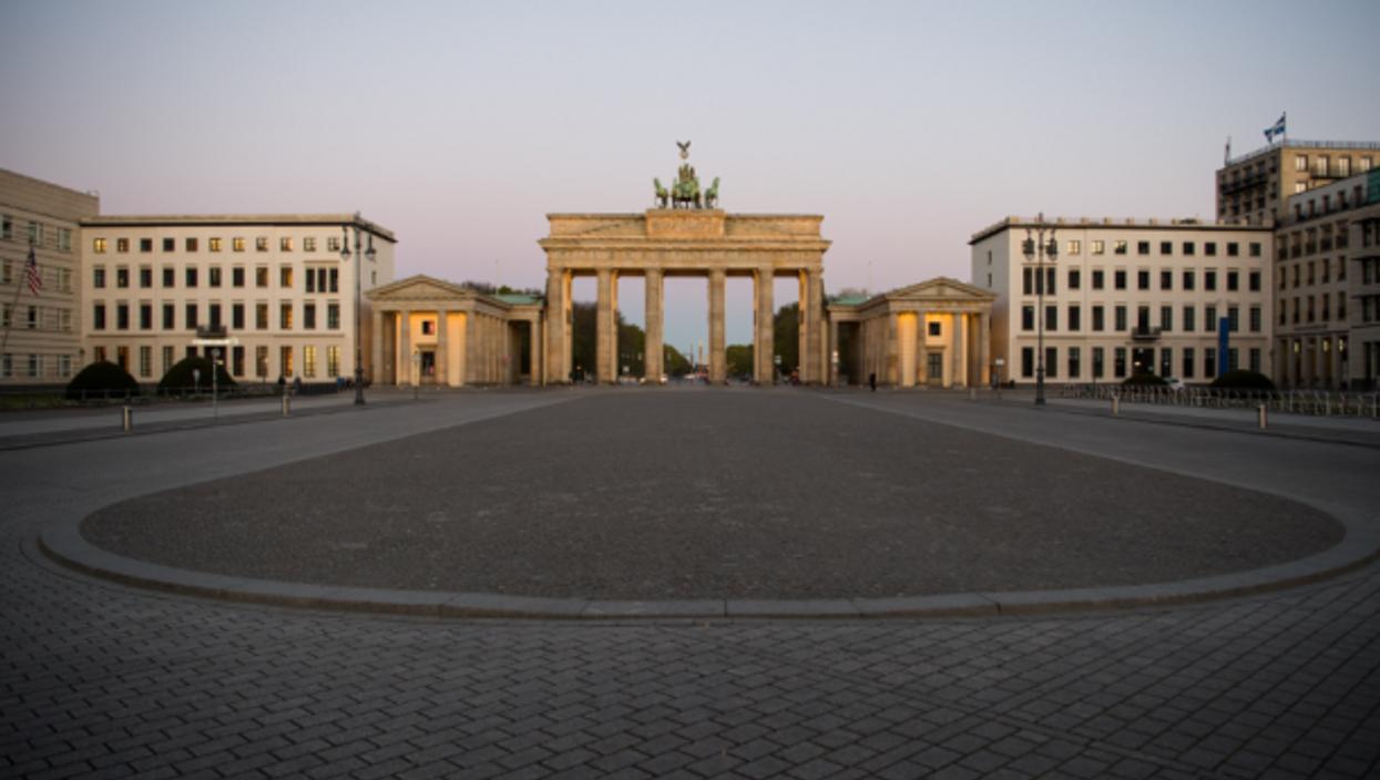 Empty Berlin on April 20