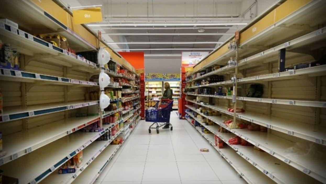 Empty shelves in Villeneuve-la-Garenne, France