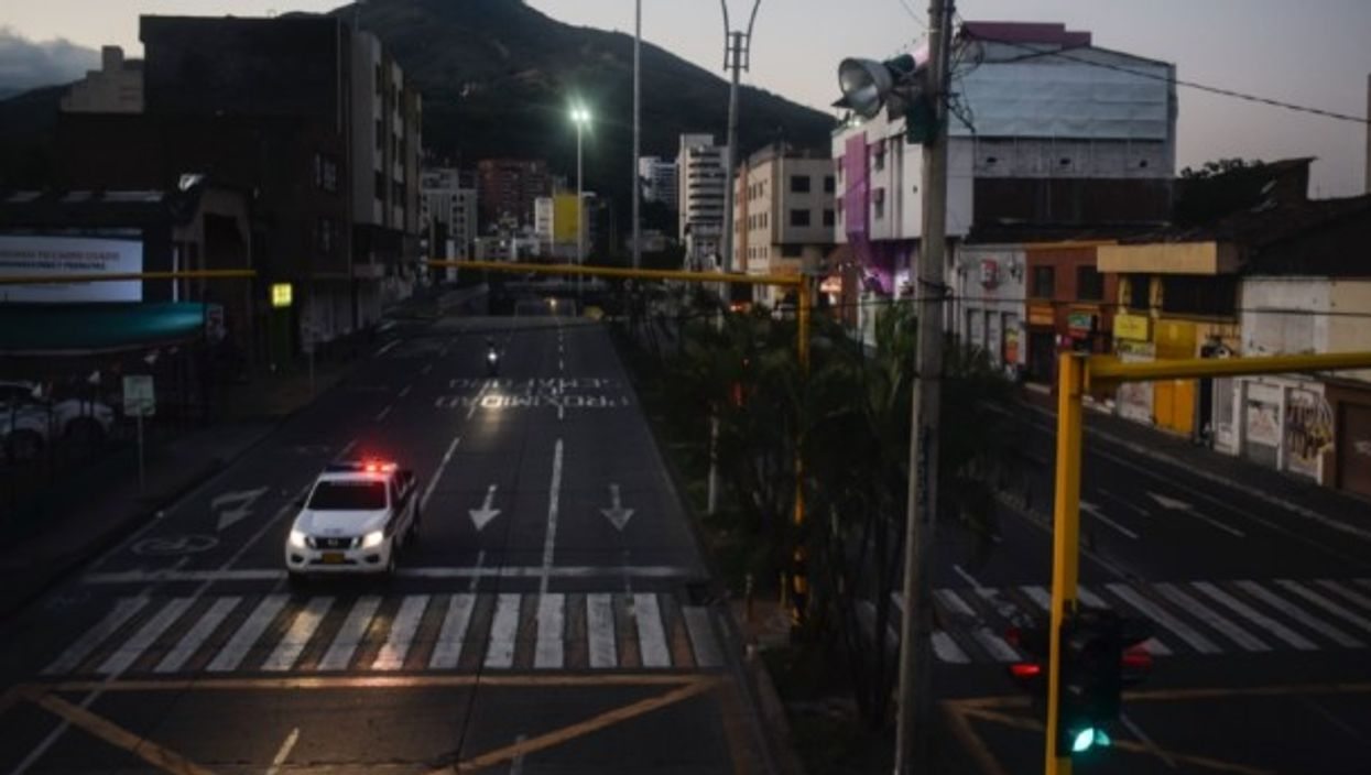 Empty streets during the Coronavirus lockdown in Cali, Colombia