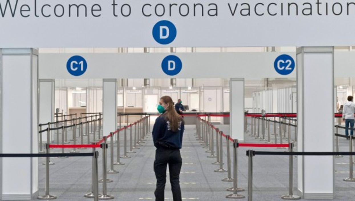 Empty vaccination center in Hamburg, Germany