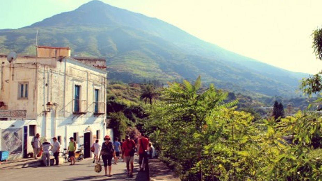 En route to the Stromboli