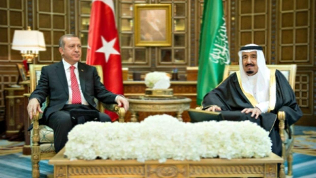 Erdogan and Salman in Riyadh in March