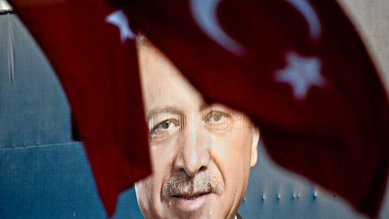 Erdogan poster in Bursa, Turkey