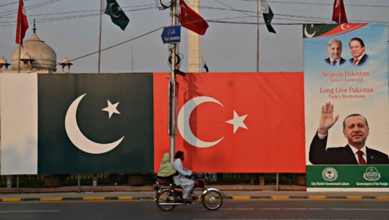 Erdogan poster in Lahore, Pakistan