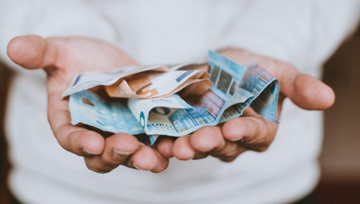 Euros are replacing dollars