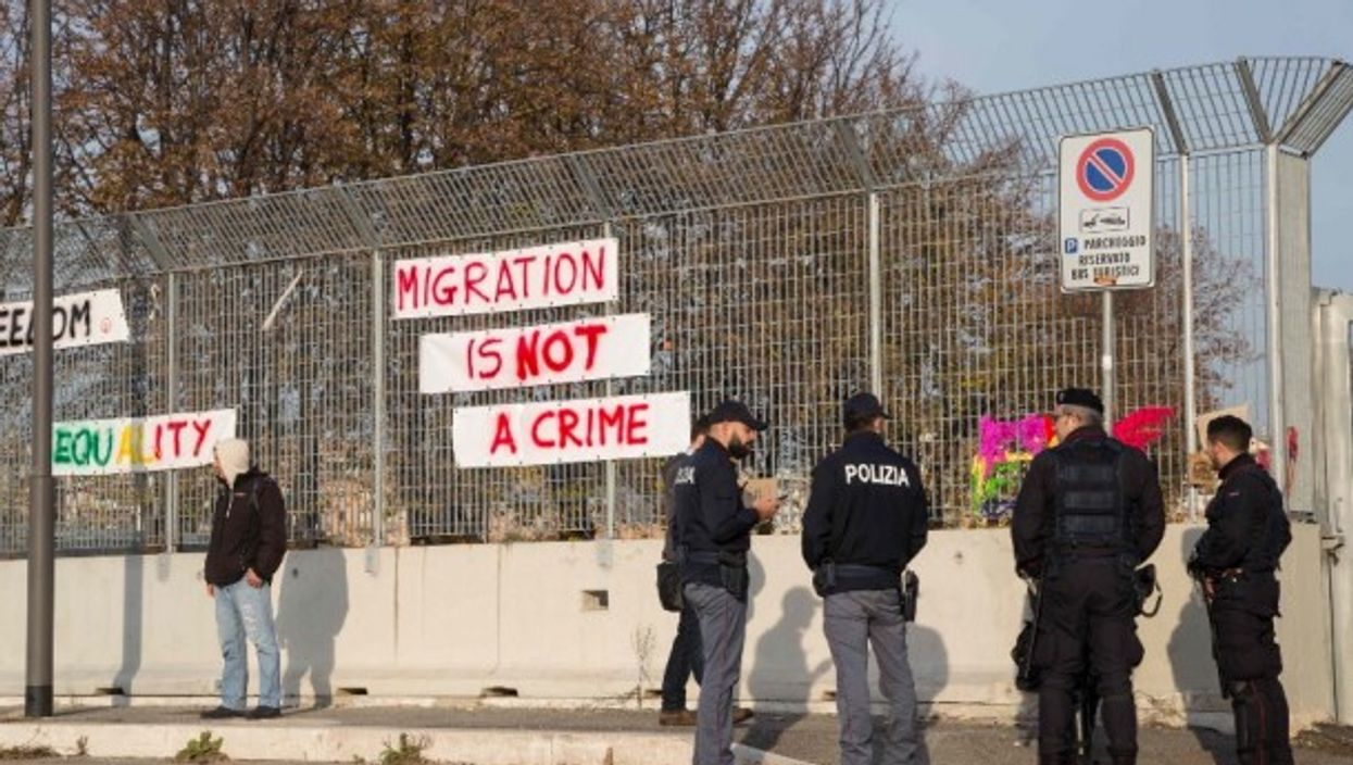 Eviction of Baobab Migrant Camp in Rome on Nov. 13, 2018.
