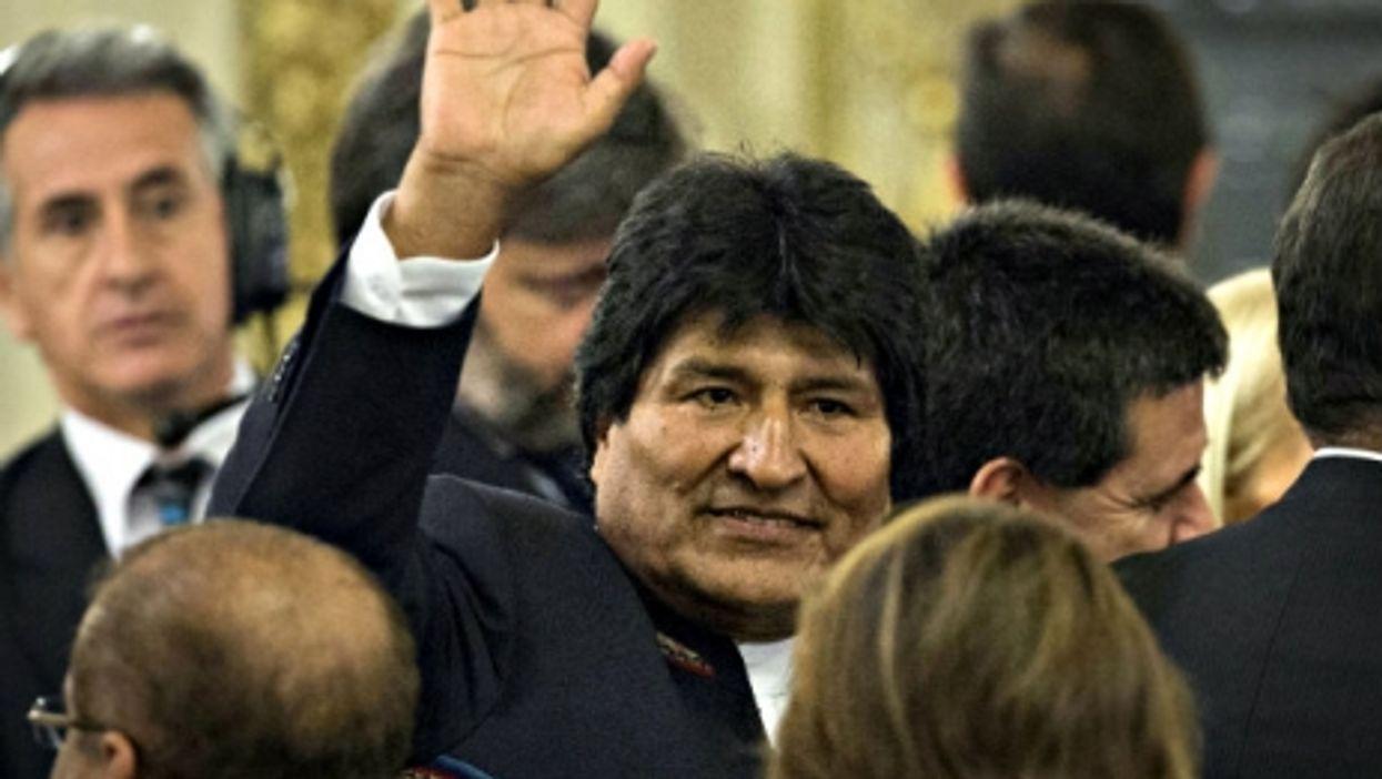 Evo Morales at Macri's inauguration in December