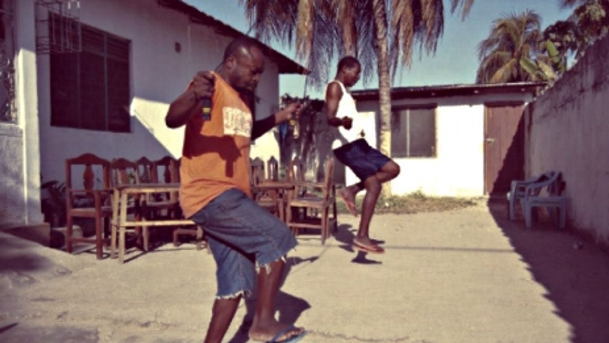 Exercising at Zanzibar's Detroit Sober House