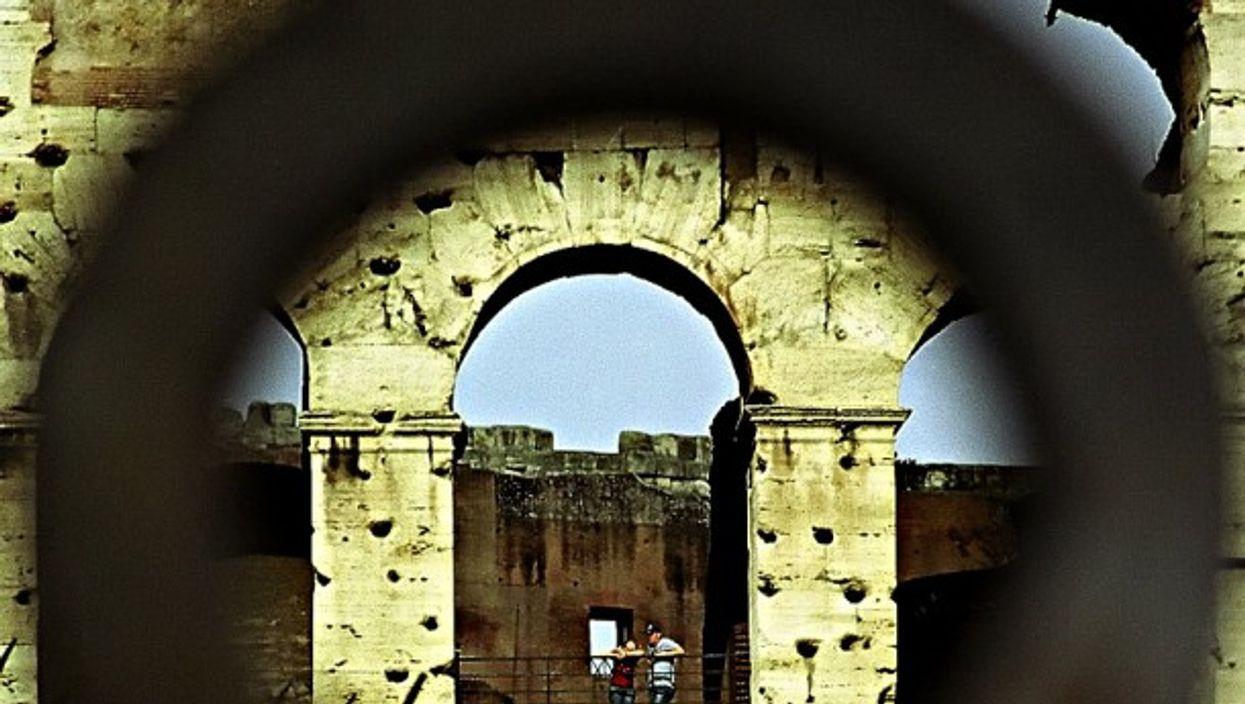 Eye on the Roman Coliseum