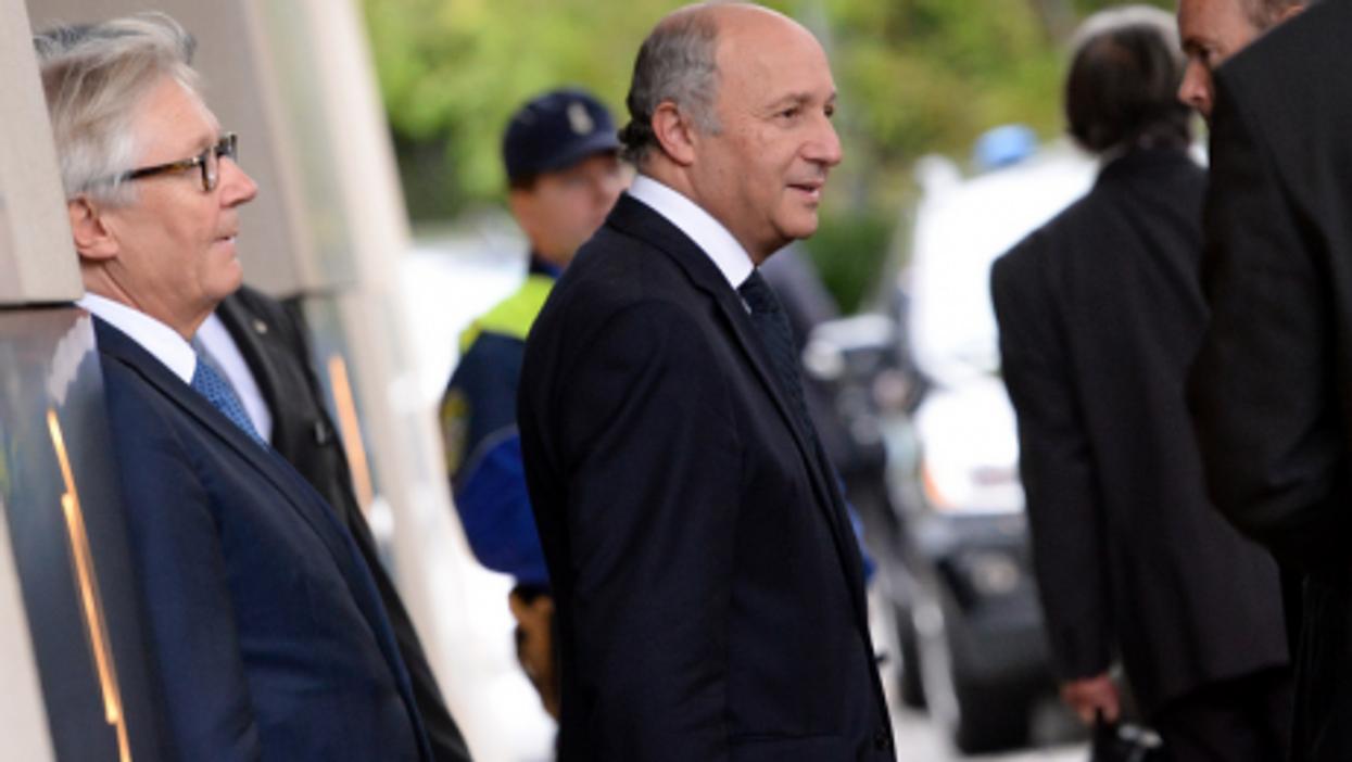 Fabius arrives in Geneva